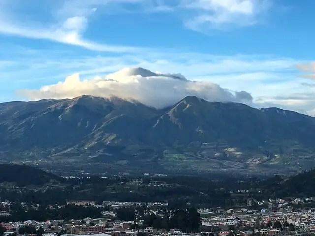 volcano in Otavalo, Ecuador