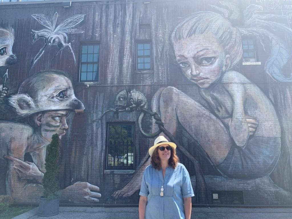 Lilly & the Silly Monkeys street mural in Lexington, Kentucky
