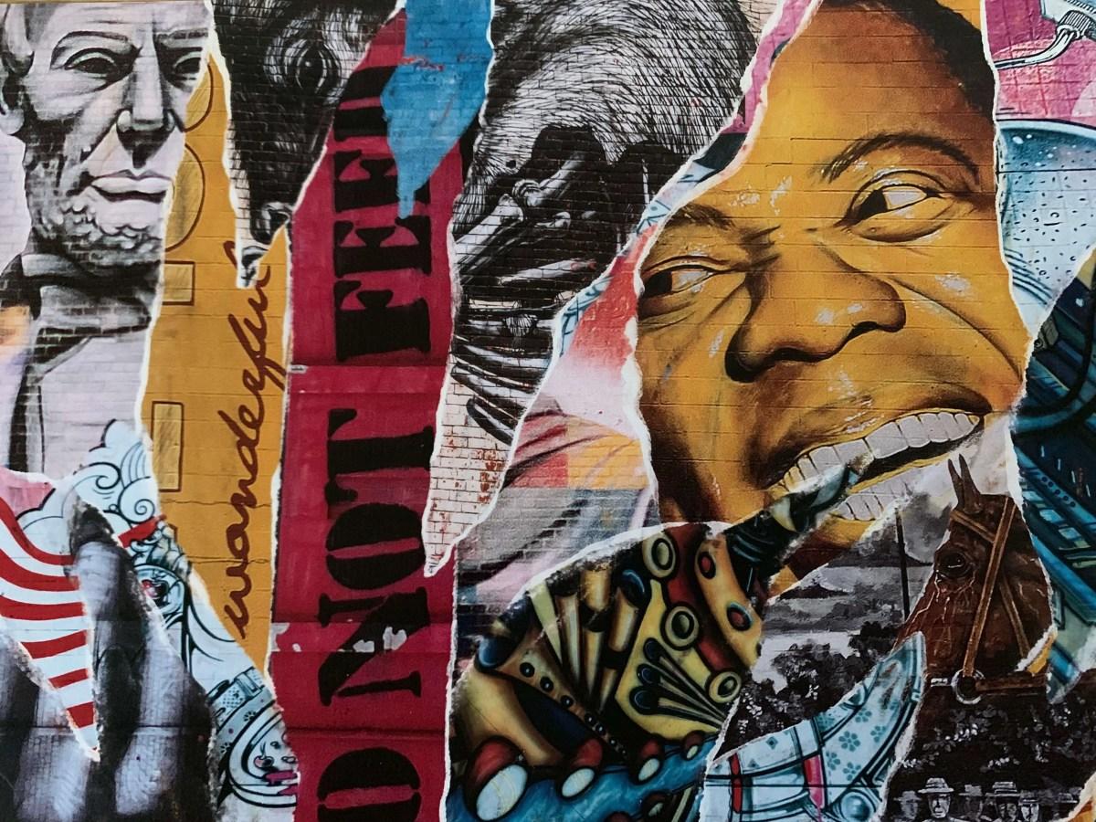 collage of street murals in Lexington, Kentucky