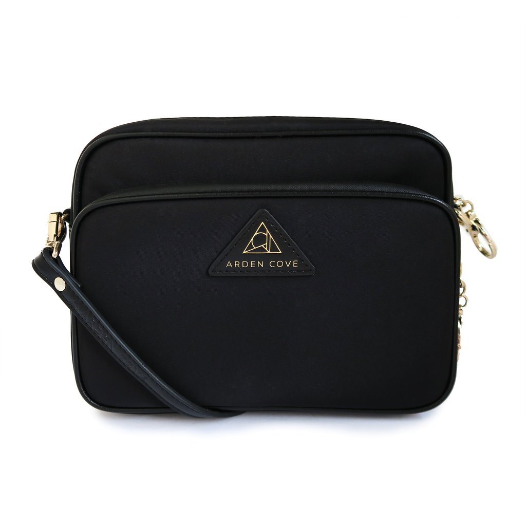 Arden Cove crossbody bag in black.  Anti-theft purses.