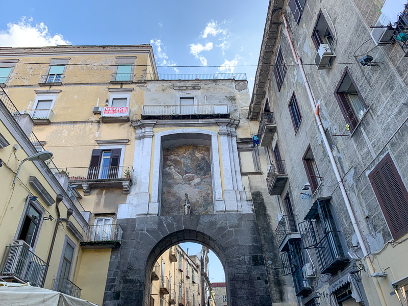 Naples historic city center