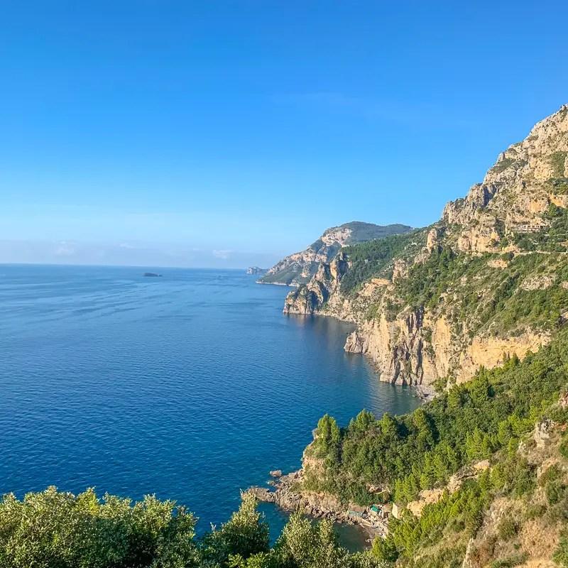 view of the stunning Amalfi Coast