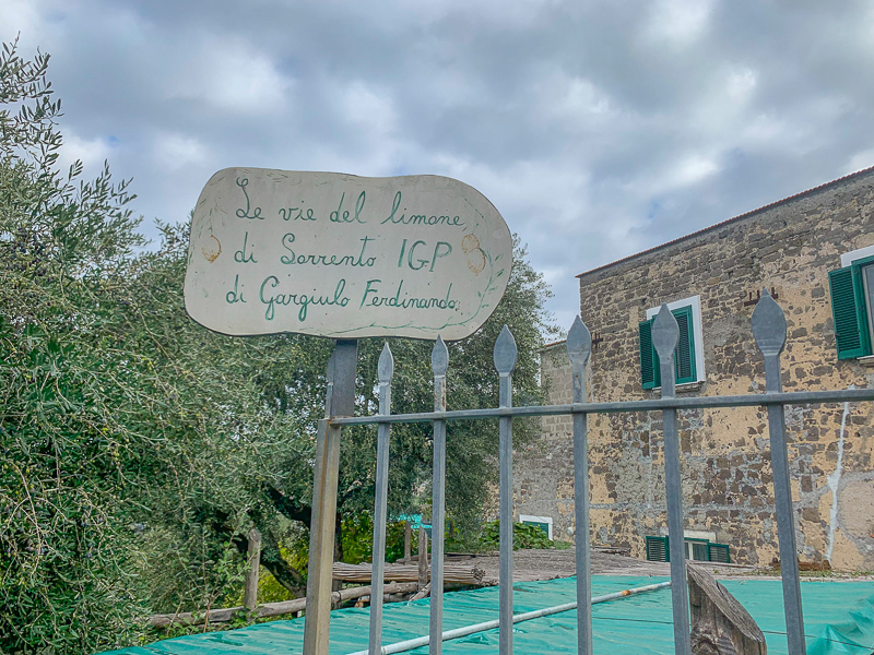 Sign at La Masseria farm - The Ways of the Lemon.