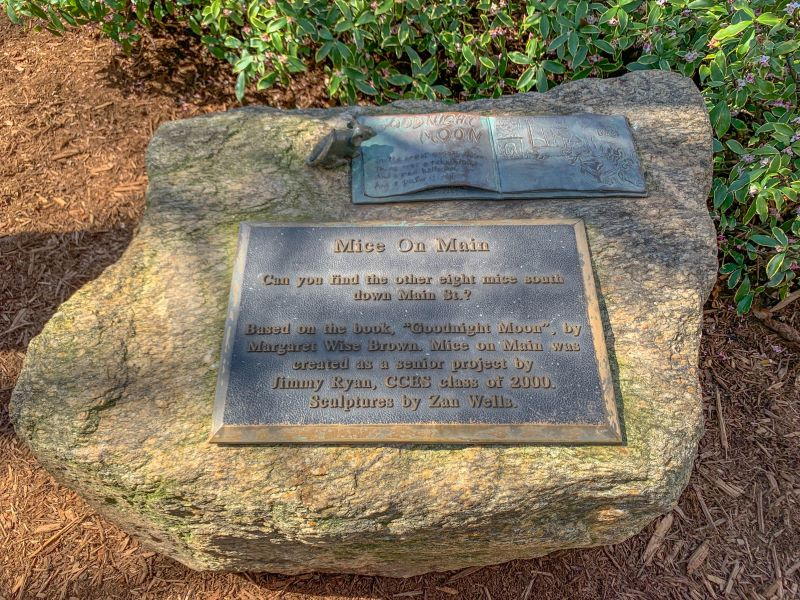 Mice on Main is a fun scavenger hunt in downtown Greenville, South Carolina.  Based on the popular children's book Pat the Bunny, this scavenger hunt invites visitors to search for nine bronze mice scattered along Main Street.  A great thing to do with kids in Greenville, SC.