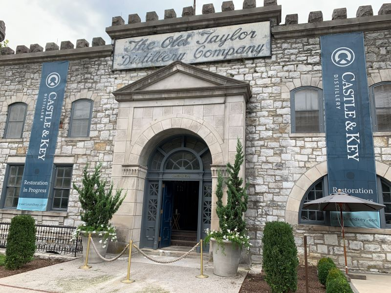 Castle & Key Distillery in Frankfort, Kentucky. Touring distilleries along the Kentucky Bourbon Trail is one of the popular things to do in Lexington.