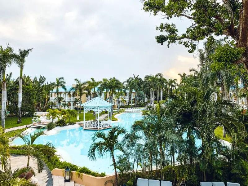 A stunning grounds at the Royal Hideaway Playacar in Playa del Carman.