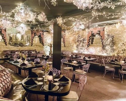 dining room at The Glitz Restaurant