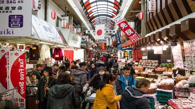 Kuromon Ichiba Market ตลาดคุโรมง ร้านอาหารโอซาก้า โอซาก้า ญี่ปุ่นไปไหนดี osaka food wherejapan 6