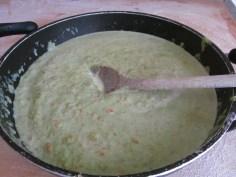 sauce: asparagus and a little milk