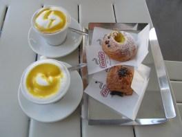 Our second cappuccino with zabaglione