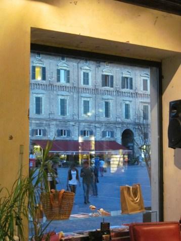 Detail of Piazza del Popolo - view from Nero Caffè