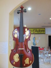 Violin decorated by Marcello Jori, artist
