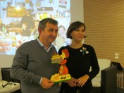 Vito with Cristina Ortolani, founder of the event