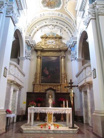 San Giuseppe church - the altar