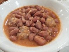 Stewed beans and sausage