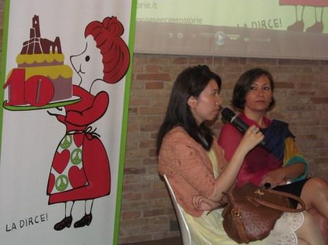 Cristina Ortolani and Mrs Yanmin Lu