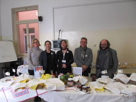 Cristina Ortolani in the center and collaborators of the project