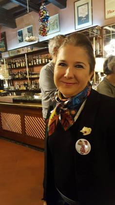 Sabrina, owner of the historical cafè 'Casetta Vaccaj'