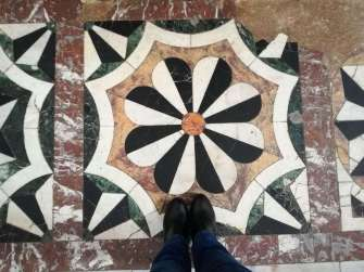 My feet on the marble pavement (!)