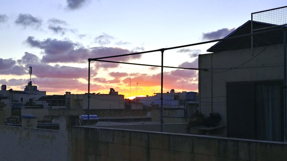 30-Days in Malta. Gozo sunset from my apartment terrace. Photo: Charlebois