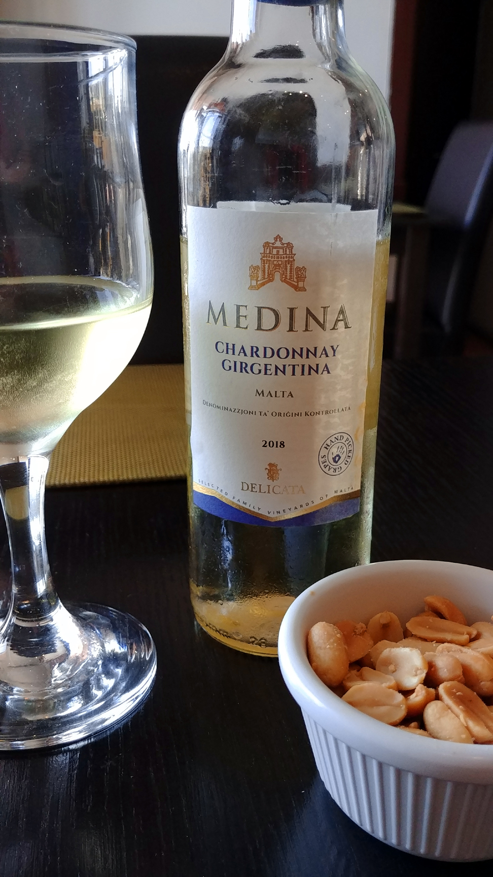 Maltese Chardonnay from Girgentina grapes. Photo: Mary Charlebois