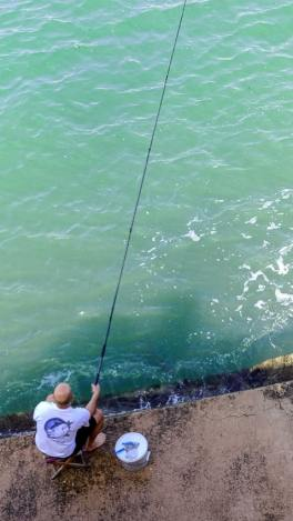Marsaskala Harbor long rod fishing