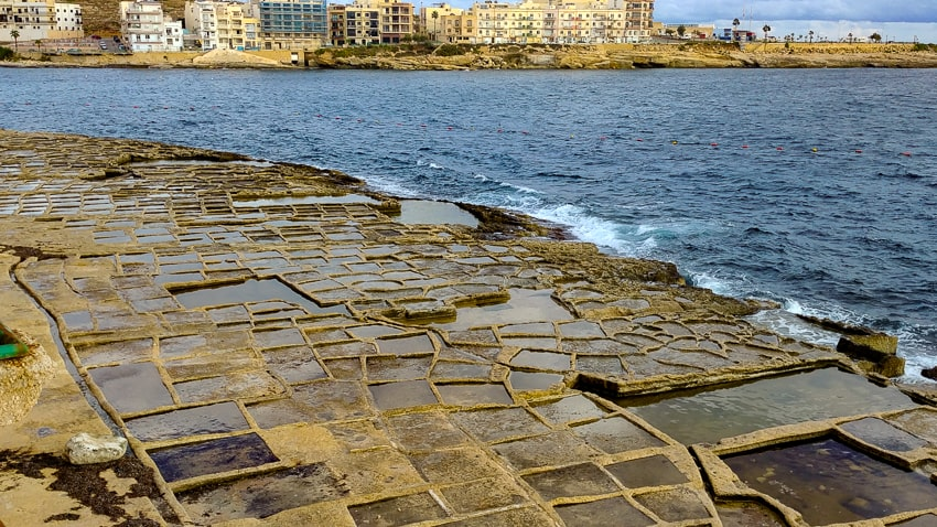 Marsaskala Harbor salt pans