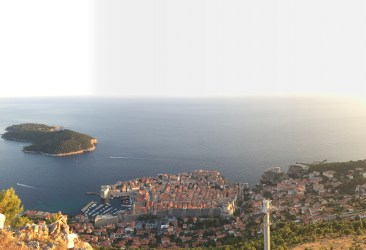 Old Town of Dubrovnik and Lokrum island from above. This picture (and my lack of skill taking one) doesn't do it justice!