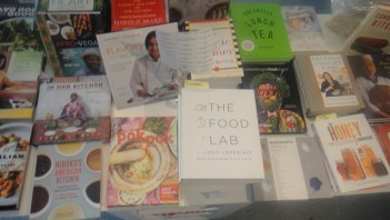 Exit through through the MOFAD gift shop . Note Harold McGee's On Food and Cooking © WhereNYC