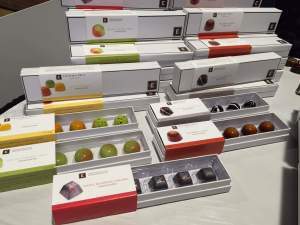 Christopher Elbow chocolates have a sleek look yet deliver on amazing flavor. © Kaori Hoshino for WhereNYC Chocolate Show