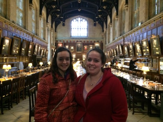 Sunday Brunch at Christ Church College, Oxford, in the hall that the Great Hall in Harry Potter was based off of