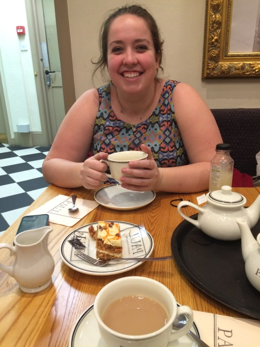 Tea and carrot cake with Celine Bean!