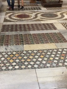Fun fact, all these circular tiles are cross sections cut from columns salvaged from other nearby structures