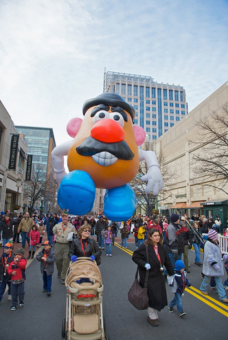 One of many colorful balloons at the Reston Holiday Parade in 2008.