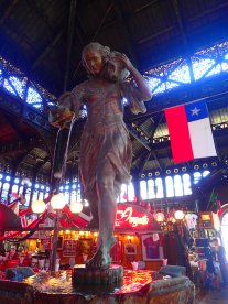 Statue in the market.