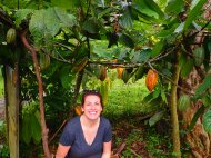 Mary among the cacao trees.