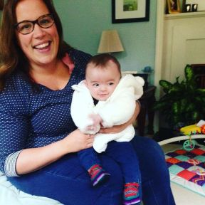 So excited to finally meet Lily!! She's even sporting her Guatemalan booties! xo