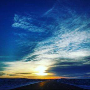 My first Colorado sunset.