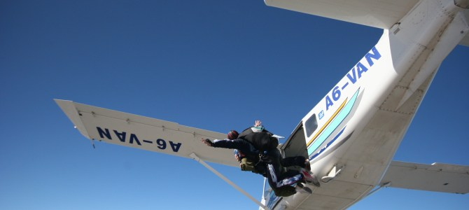 Skydiving From 10,000ft in the Desert Sky