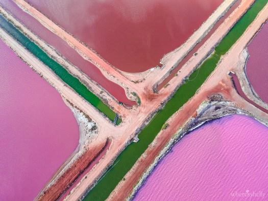 Hutt Lagoon Ponds - Pink Lake