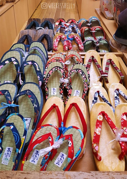 Geta sandals in Shibu Onsen shop