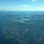 Flying into Bar Harbor