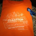 The Volunteer t-shirt for the NYC Marathon 2013, with Boston support ribbon