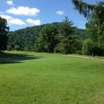 Golf course during Hatfield McCoy Marathon 2014