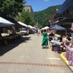 Street fair after Hatfield McCoy marathon 2014