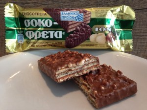 Hazelnut chocolate wafer candy bar