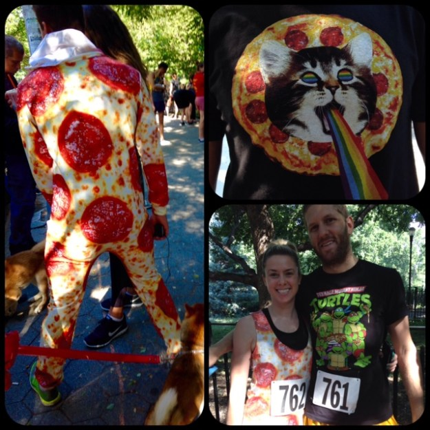 Some of the great outfits at NYC Pizza Run 2015.