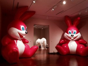 Current display at the Art Museum. Bunnies!