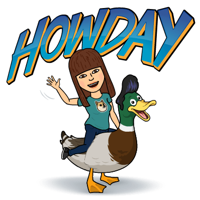 There's no bitmoji with a bike, so this duck will have to do.