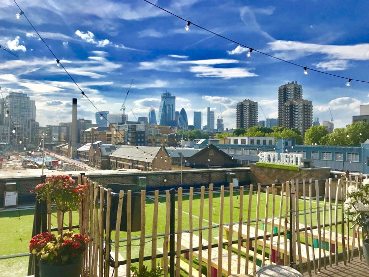 Skylight rooftop, wapping London views of london city